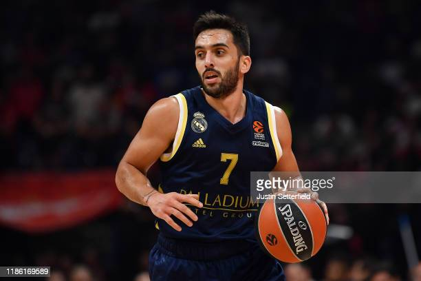 Facundo Campazzo of Real Madrid in action during the 2019-2020 Tukish Airlines Regular Season Round 7 game between Crvena Zvezda mts Belgrade and...