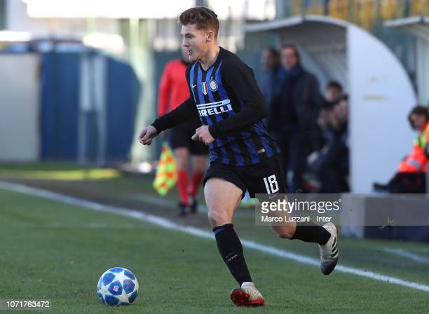 Facundo Colidio FC Internazionale of in action during the UEFA Youth League match between FC Internazionale and PSV at Stadio Breda on December 11...