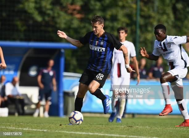 Facundo Colidio of FC Internazionale in action during Fc internazionale U19 V Cagliari U19 match at Stadio Breda on September 14 2018 in Sesto San...