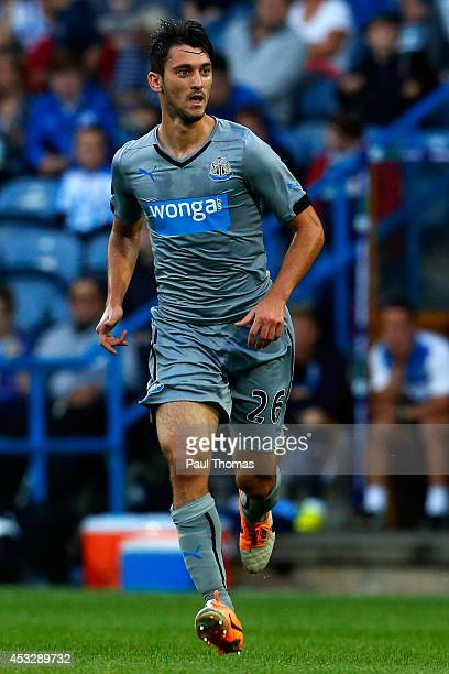 Facundo Ferreyra of Newcastle in action during the Pre Season Friendly match between Huddersfield Town and Newcastle United at the John Smith's...