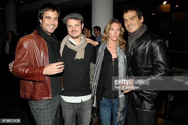 Facundo Gabba Aaron McIntyre Jessica Hafford and Ernesto attend A MILK GALLERY PROJECT Presents TRANSIT by ALEXI LUBOMIRSKI at Milk Gallery on...