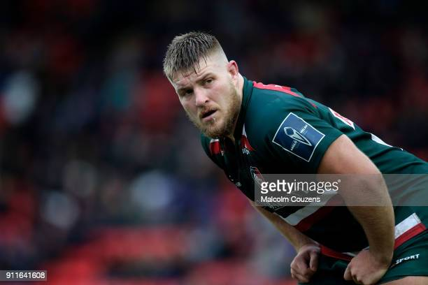 Facundo Gigena of Leicester Tigers during the AngloWelsh Cup match at Welford Road on January 27 2018 in Leicester England