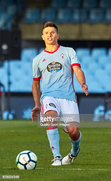 Facundo Roncaglia of Celta de Vigo in action during the Pre Season Friendly match between Celta de Vigo and Udinese Calcio at Balaidos Stadium on...
