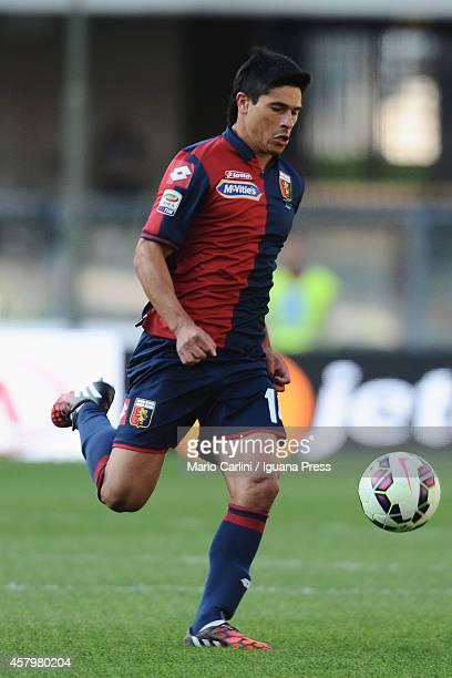 Facundo Roncaglia of Genoa CFC in action during the Serie A match between AC Chievo Verona and Genoa CFC at Stadio Marc'Antonio Bentegodi on October...