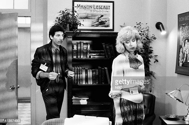 ST ELSEWHERE Fade to White Episode 7 Pictured Nancy Stafford as Joan Halloran Michael Richards as Bill Wolf Photo by Jack Hamilton/NBCU Photo Bank