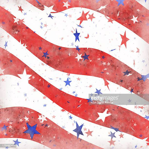 Faded American Patriotic Background | Wallpaper Designs and Fabrics
