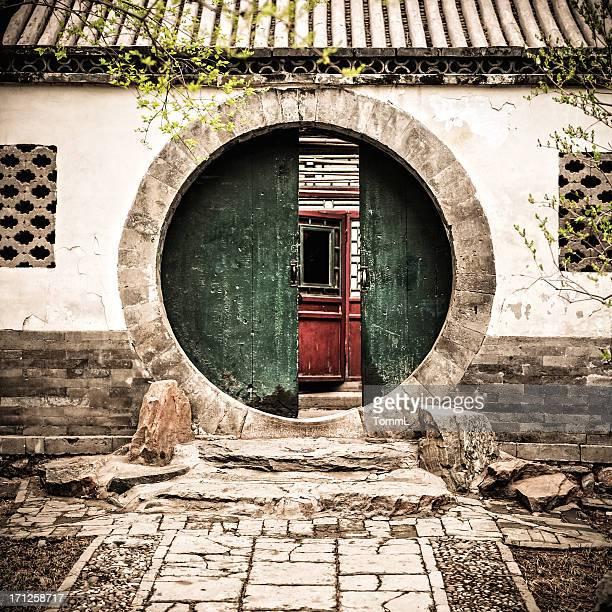 Grün verblichen gate in Peking, China
