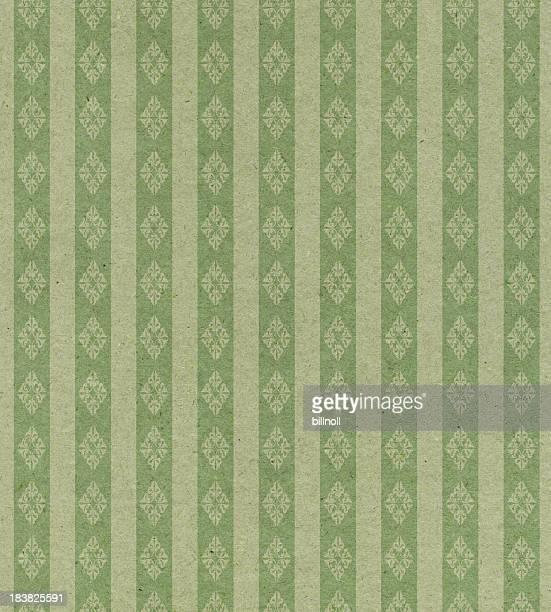Délavé vert avec ornement papier rayé