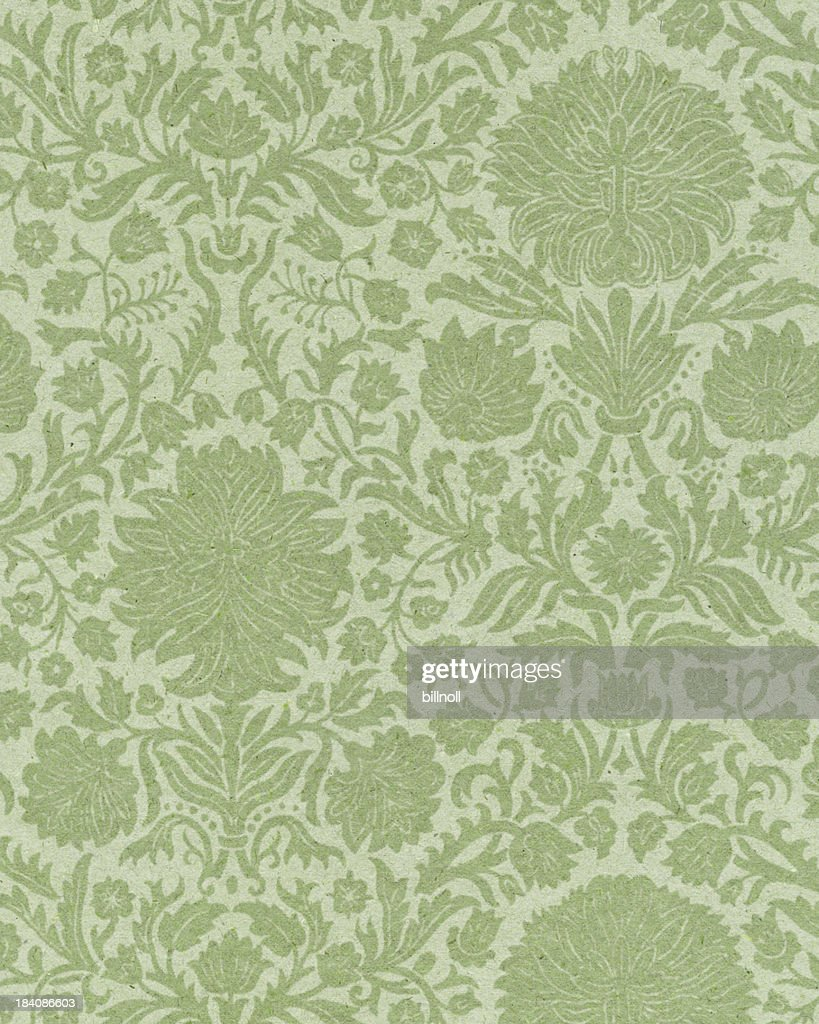 faded paper with floral ornament : Stock Photo