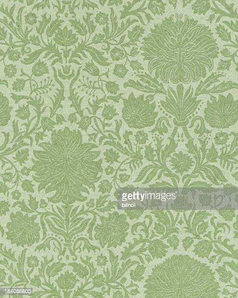 faded paper with floral ornament - frilly stock photos and pictures