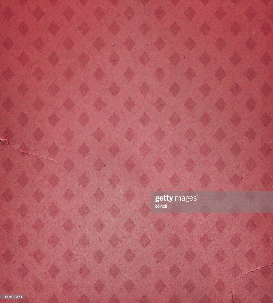 Faded Wallpaper With Diamond Pattern Stock Photo