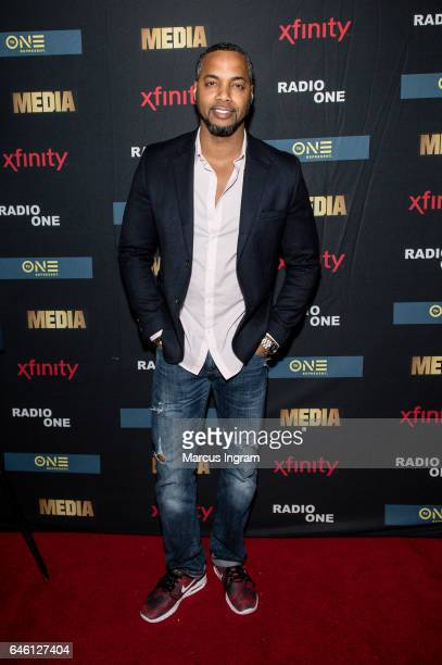 Fadelf attends TVOne 'MEDIA' watch party presented by Kontrol Magazine at Suite Lounge on February 23 2017 in Atlanta Georgia