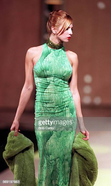 FADesigner#21007BC/a–––Tracy Lords wears gown by Janet Howard during 1996 California Designer of the Year and Rising Star Awards held at Beverly...