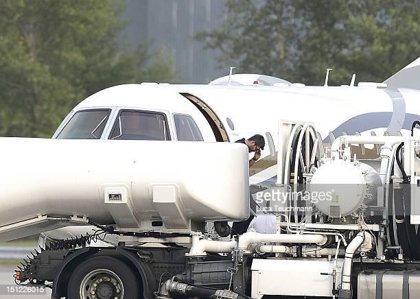 Fadi Fawaz arrives at Airport Vienna on September 4 2012 in Vienna Austria