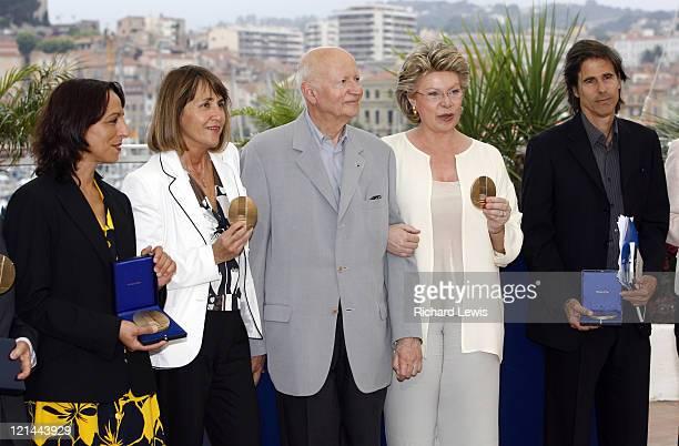 Fadila Laanan Christine Albanel Gilles Jacob Viviane Reding and Walter Salles