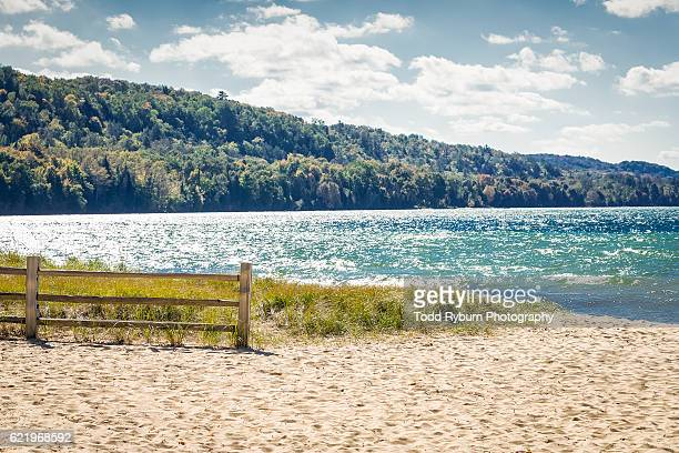 fading summer - munising michigan stock pictures, royalty-free photos & images