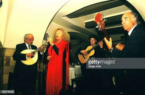 Fado being performed at a restaurant
