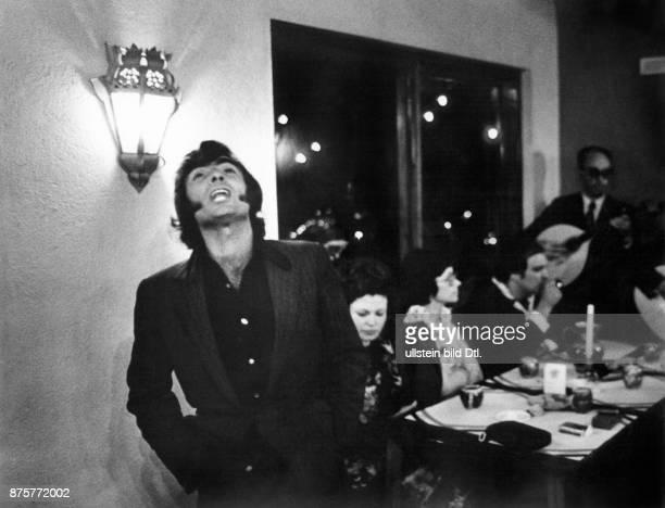 Fado singer in a tavern in Lisbon