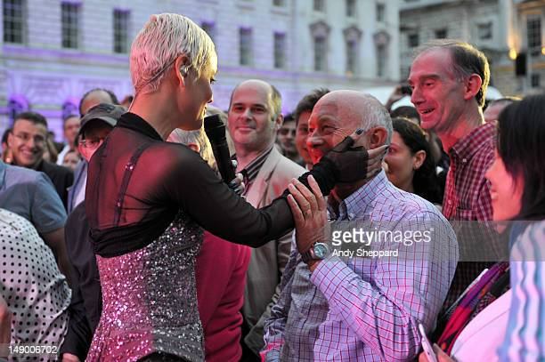 Fado singer Mariza performs amongst the crowd of the Europe stage during BT River Of Music Festival 2012 at Somerset House on July 21 2012 in London...