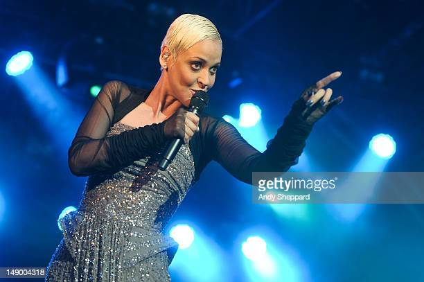 Fado singer Mariza performs on the Europe stage during BT River Of Music Festival 2012 at Somerset House on July 21 2012 in London United Kingdom