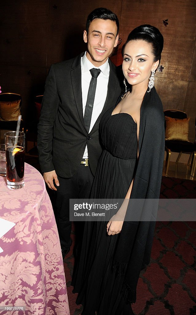 Fady Elsayed (L) attends a champagne reception at the London Critics Circle Film Awards at the May Fair Hotel on January 20, 2013 in London, England.