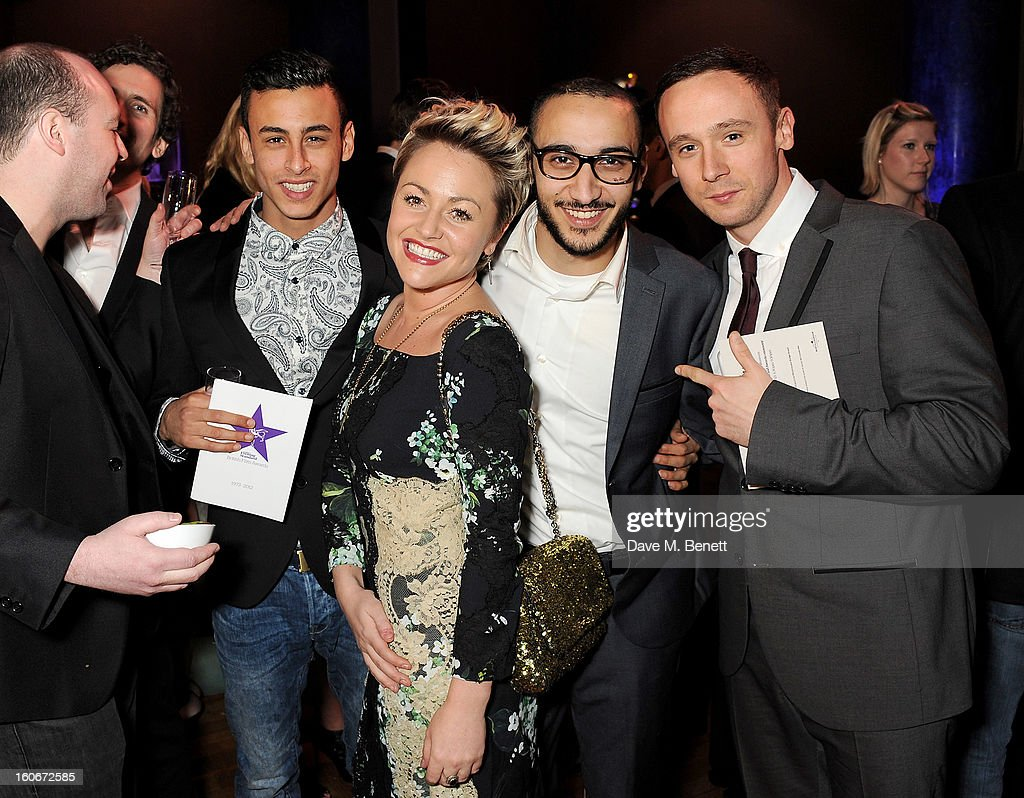 Fady Elsayed, Jaime Winstone, Aymen Hamdouchi and Jason Maza attend the London Evening Standard British Film Awards supported by Moet & Chandon and Chopard at the London Film Museum on February 4, 2013 in London, England.