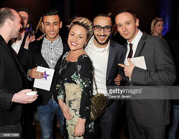 Fady Elsayed Jaime Winstone Aymen Hamdouchi and Jason Maza attend the London Evening Standard British Film Awards supported by Moet Chandon and...