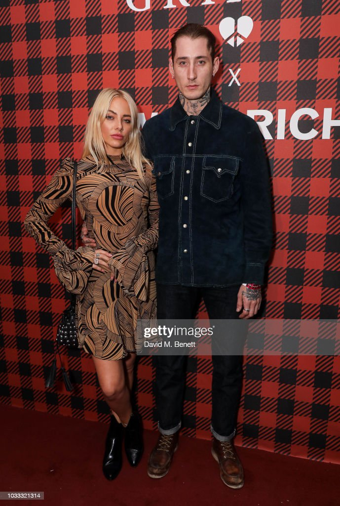 Fae Williams and Dan Crowe attend the Griffin X Woolrich capsule collection launch presented by Highsnobiety during London Fashion Week September 2018 at 180 The Strand on September 14, 2018 in London, England.