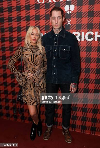 Fae Williams and Dan Crowe attend the Griffin X Woolrich capsule collection launch presented by Highsnobiety during London Fashion Week September...