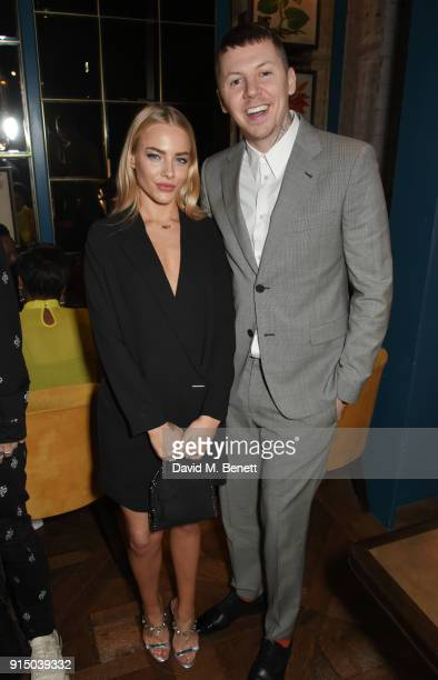 Fae Williams and Professor Green attend the InStyle EE Rising Star Party at Granary Square on February 6 2018 in London England