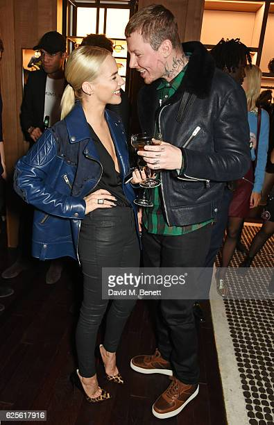 Fae Williams and Professor Green attend the launch of Coach House Regent Street on November 24 2016 in London England