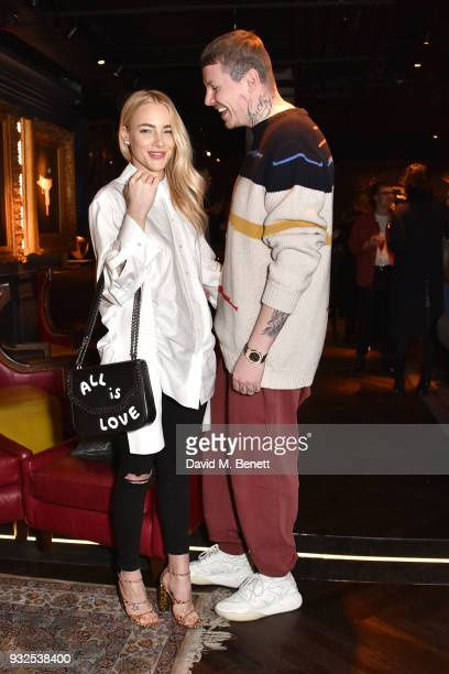 Fae Williams and Professor Green attend the launch of Wonderland magazine's Spring 2018 issue with Ellen Von Unwerth at MNKY HSE on March 15 2018 in...