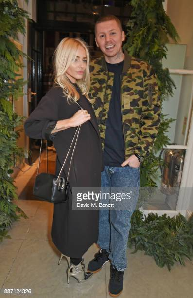 Fae Williams and Professor Green attend the Stella McCartney Christmas Lights 2017 party on December 6 2017 in London England