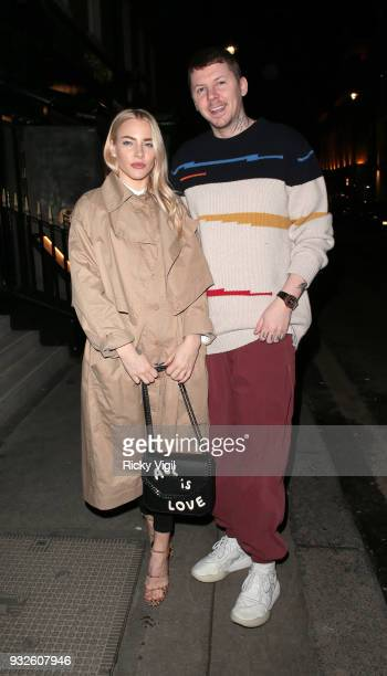 Fae Williams and Professor Green seen atrending the launch of spring issue of Wonderland Magazine at MNKY HSE on March 15 2018 in London England