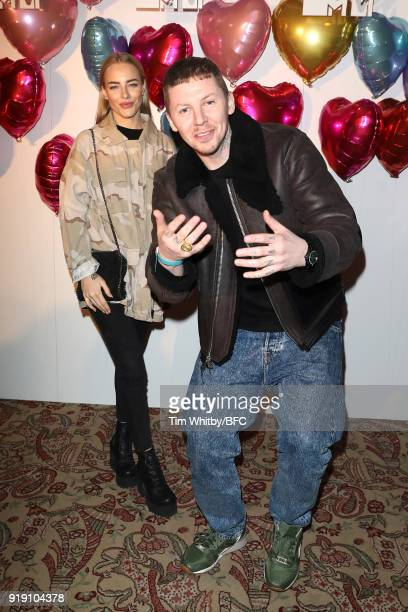 Fae Williams and Stephen Manderson aka Professor Green attend the Wonderland Magazine x MTV Party during London Fashion Week February 2018 at The Ned...