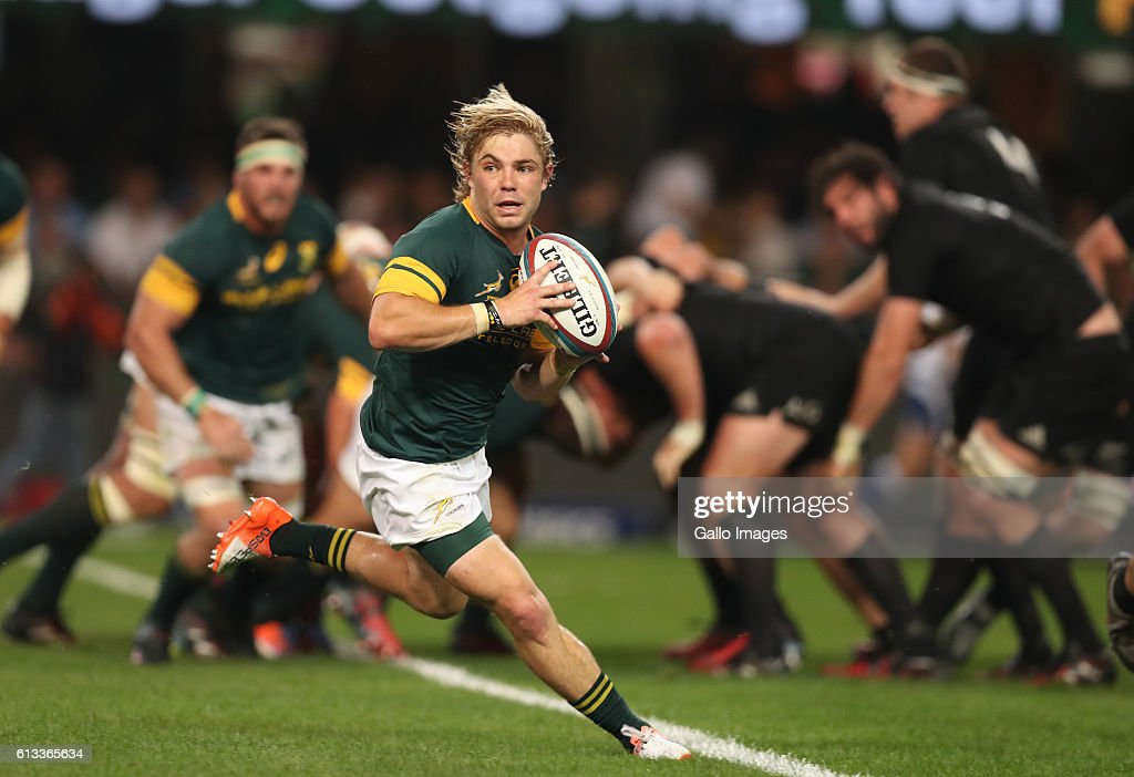 Faf de Klerk of South Africa during the The Rugby Championship match between South Africa and New Zealand at Growthpoint Kings Park on October 08, 2016 in Durban, South Africa.
