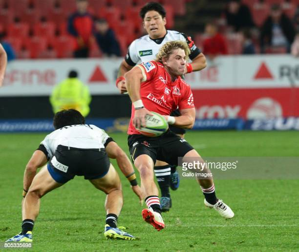 Faf de Klerk of the Lions during the Super Rugby match between Emirates Lions and Sunwolves at Emirates Airline Park on July 01, 2017 in...