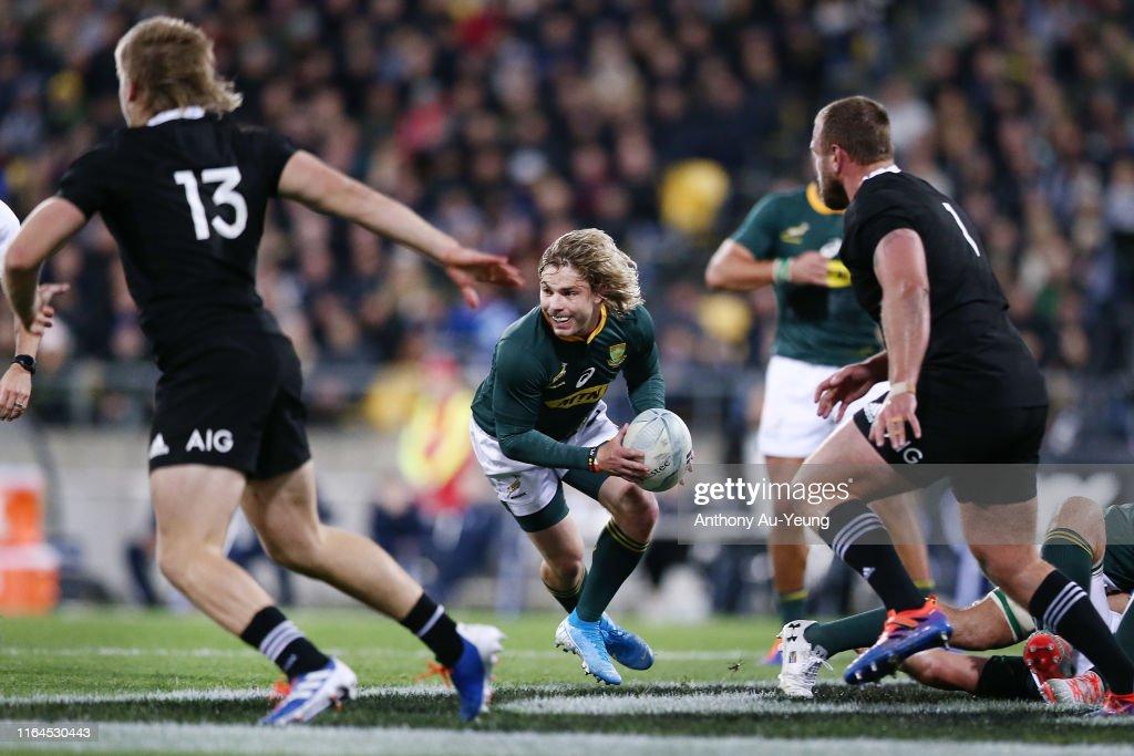 2019 Rugby Championship - New Zealand All Blacks v South Africa Springboks : News Photo