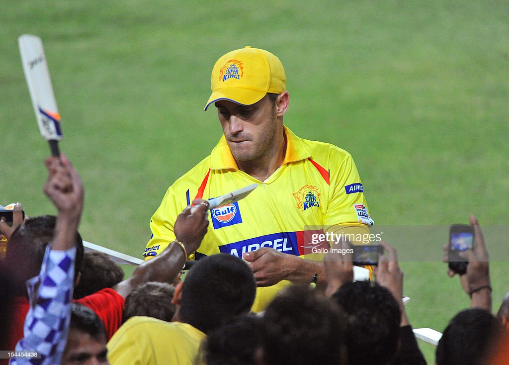 CLT20 2012 Chennai Super Kings v Mumbai Indians : News Photo