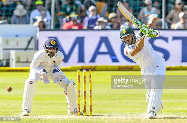 Faf Du Plessis of South Africa during day 1 of the 1st Test match between South Africa and Sri Lanka at St George's Park on December 26 2016 in Port...