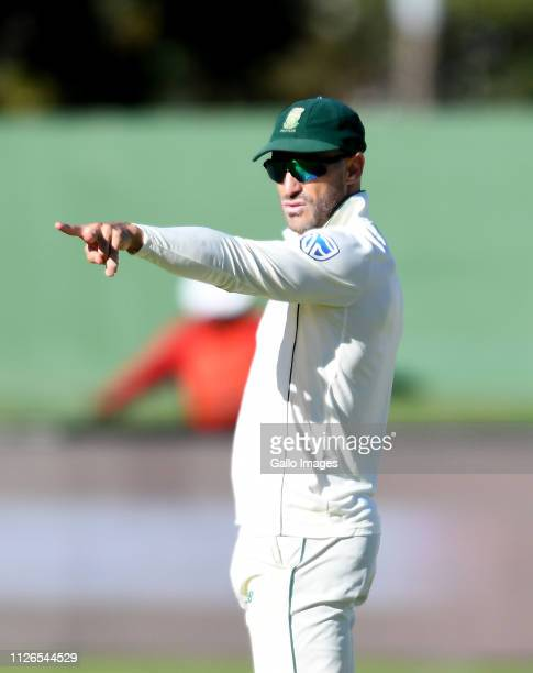 Faf du Plessis of South Africa during day 1 of the 2nd Castle Lager Test match between South Africa and Sri Lanka at St George's Park on February 21...