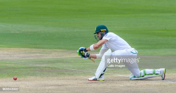 Faf du Plessis of South Africa during day 4 of the 2nd Sunfoil Test match between South Africa and India at SuperSport Park on January 16 2018 in...