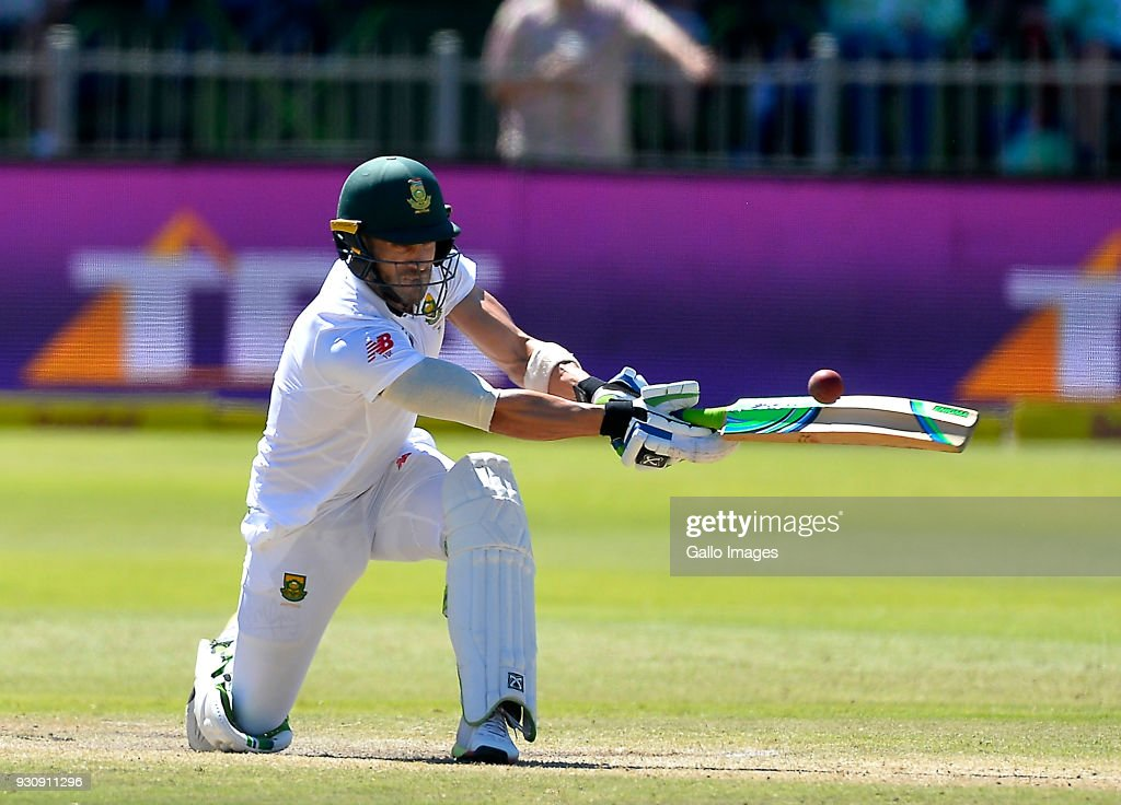 Faf du Plessis (capt) of South Africa during day 4 of the 2nd Sunfoil Test match between South Africa and Australia at St Georges Park on March 12, 2018 in Port Elizabeth, South Africa.