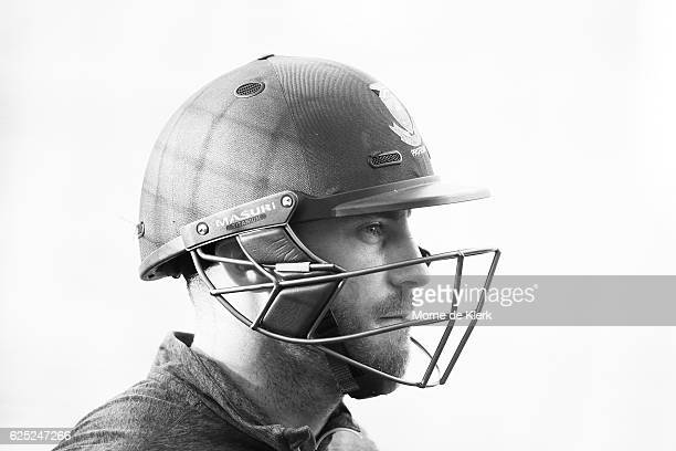 Faf du Plessis of South Africa looks on during a South Africa training session at Adelaide Oval on November 23 2016 in Adelaide Australia