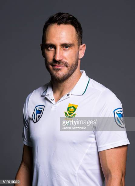 Faf Du Plessis of South Africa poses for a portrait at The Kia Oval on July 25 2017 in London England