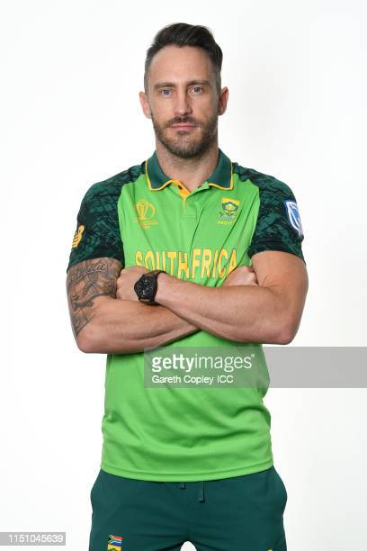 Faf du Plessis of South Africa poses for a portrait prior to the ICC Cricket World Cup 2019 at on May 22 2019 in Cardiff Wales