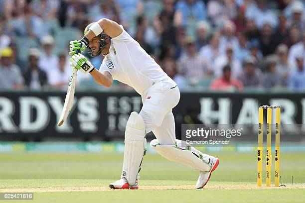 Faf du Plessis of Southe Africa bats during day one of the Third Test match between Australia and South Africa at Adelaide Oval on November 24 2016...
