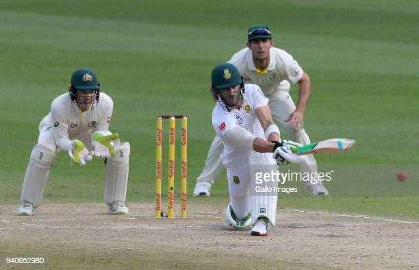 Faf du Plessis of the Proteas during day 3 of the 4th Sunfoil Test match between South Africa and Australia at Bidvest Wanderers Stadium on April 01...