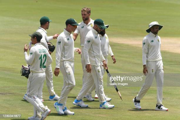 Faf du Plessis of the Proteas during day 4 of the 1st Betway Test match between South Africa and Sri Lanka at SuperSport Park on December 29, 2020 in...