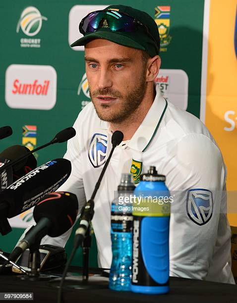 Faf du Plessis of the Proteas during day 4 of the 2nd Sunfoil International Test match between South Africa and New Zealand at SuperSport Park on...